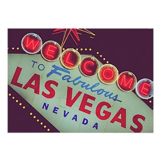 Invitación de la fiesta de cumpleaños de Las Vegas