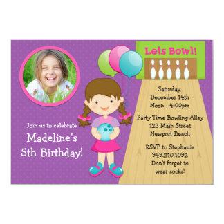 Invitación de la fiesta de cumpleaños de los bolos