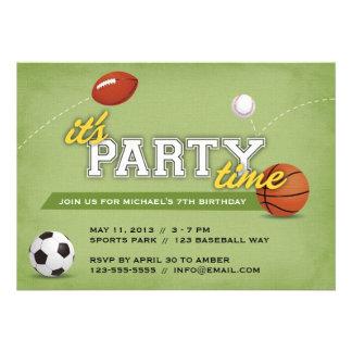 Invitación de la fiesta de cumpleaños de los depor