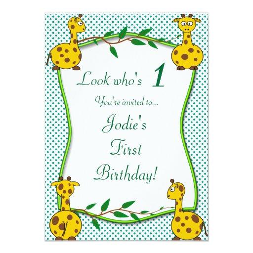 Invitación de la fiesta de cumpleaños de los niños