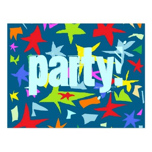 Invitación de la fiesta de cumpleaños de los niños postales