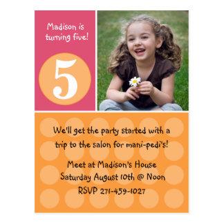 Invitación de la fiesta de cumpleaños de los niños tarjetas postales