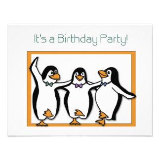 Invitación de la fiesta de cumpleaños de los pingü