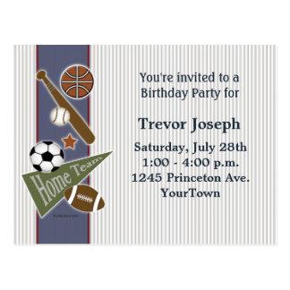 Invitación de la fiesta de cumpleaños de los tarjeta postal