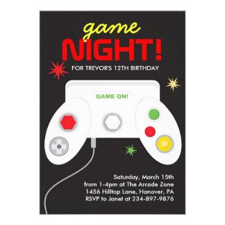 Invitación de la fiesta de cumpleaños de los video