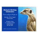 Invitación de la fiesta de cumpleaños de Meerkat Invitación 12,7 X 17,8 Cm