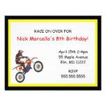 Invitación de la fiesta de cumpleaños de Motorcros