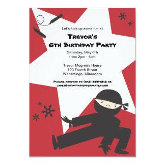 Invitación de la fiesta de cumpleaños de Ninja