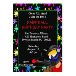 Invitación de la fiesta de cumpleaños de Paintball Invitación 12,7 X 17,8 Cm