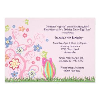 Invitación de la fiesta de cumpleaños de Pascua