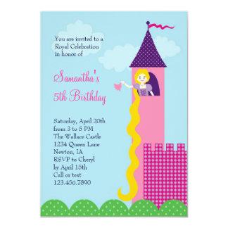 Invitación de la fiesta de cumpleaños de princesa invitación 12,7 x 17,8 cm