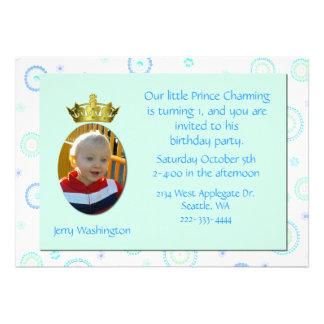 Invitación de la fiesta de cumpleaños de príncipe