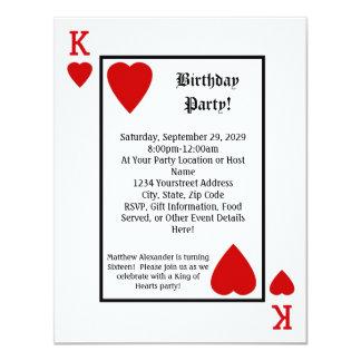 Invitación de la fiesta de cumpleaños de rey