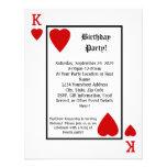 Invitación de la fiesta de cumpleaños de rey Heart