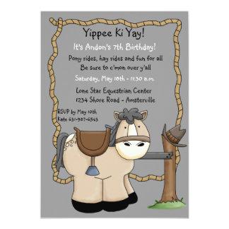 Invitación de la fiesta de cumpleaños de Yippee Ki