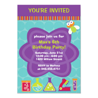 Invitación de la fiesta de cumpleaños del