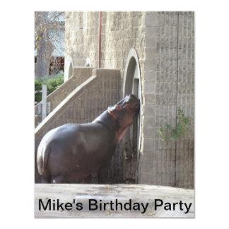 Invitación de la fiesta de cumpleaños del invitación 10,8 x 13,9 cm