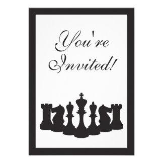 Invitación de la fiesta de cumpleaños del ajedrez