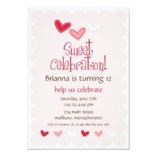 Invitación de la fiesta de cumpleaños del amor
