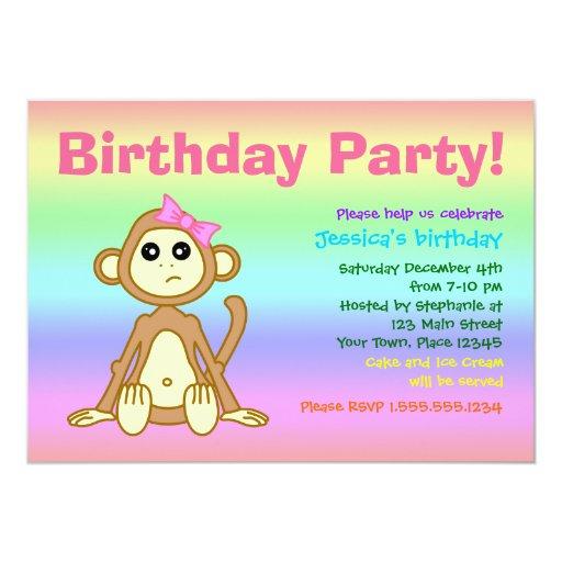 Invitación de la fiesta de cumpleaños del arco