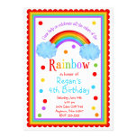 Invitación de la fiesta de cumpleaños del arco iri
