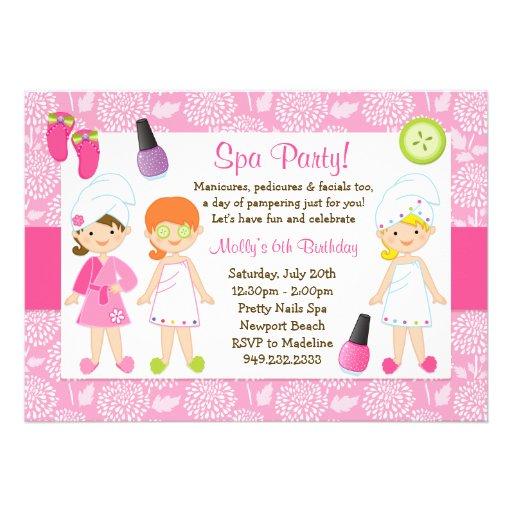 Invitación de la fiesta de cumpleaños del balneari