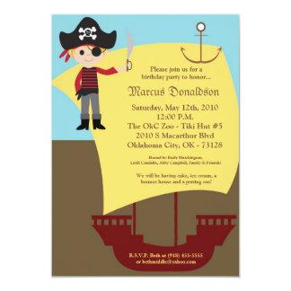 invitación de la fiesta de cumpleaños del barco