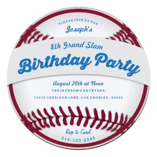 Invitación de la fiesta de cumpleaños del béisbol