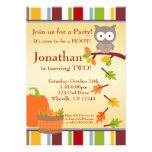 Invitación de la fiesta de cumpleaños del búho y d