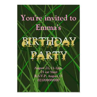 Invitación de la fiesta de cumpleaños del caballo,