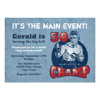 Invitación de la fiesta de cumpleaños del campeón