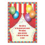 Invitación de la fiesta de cumpleaños del carnaval