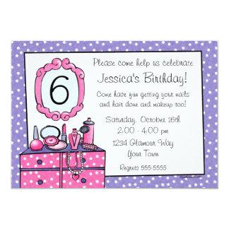 Invitación de la fiesta de cumpleaños del chica invitación 12,7 x 17,8 cm