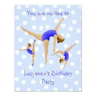 Invitación de la fiesta de cumpleaños del chica invitación 10,8 x 13,9 cm