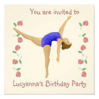Invitación de la fiesta de cumpleaños del chica invitación 13,3 cm x 13,3cm