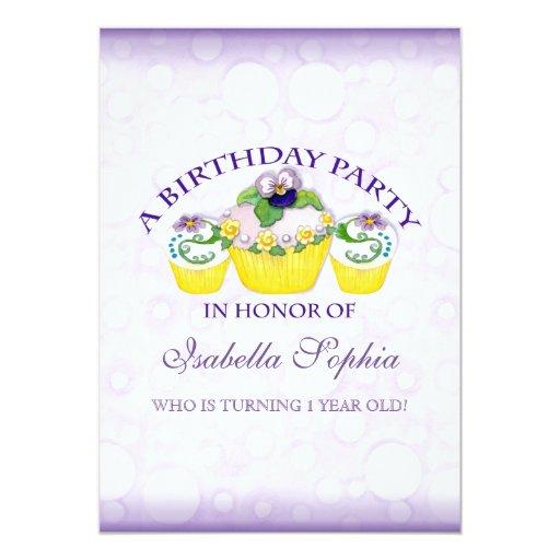 Invitación de la fiesta de cumpleaños del chica de invitación 12,7 x 17,8 cm