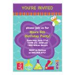 Invitación de la fiesta de cumpleaños del científi