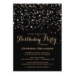 Invitación de la fiesta de cumpleaños del confeti