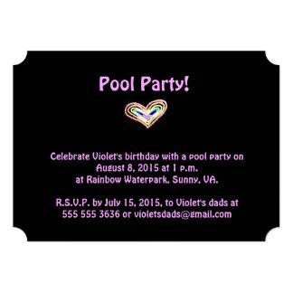 Invitación de la fiesta de cumpleaños del corazón