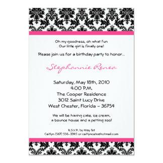 invitación de la fiesta de cumpleaños del damasco