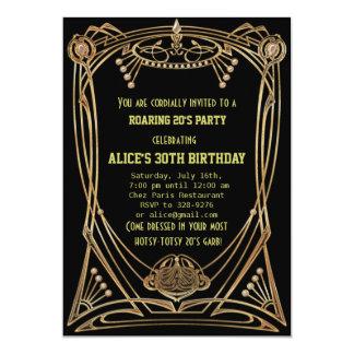 Invitación de la fiesta de cumpleaños del estilo invitación 12,7 x 17,8 cm