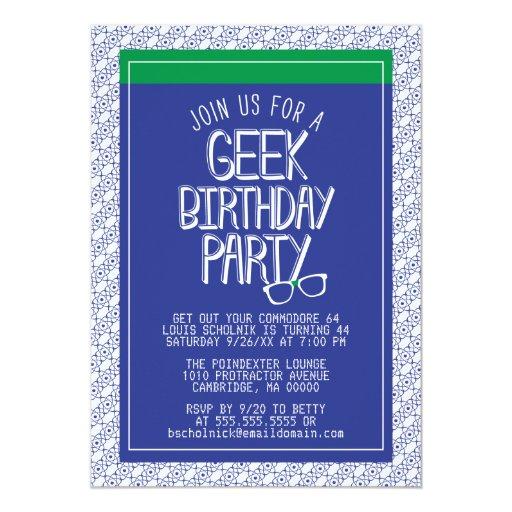 Invitación de la fiesta de cumpleaños del friki