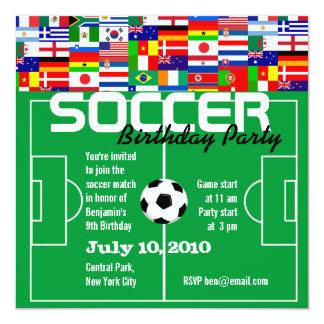 Invitación de la fiesta de cumpleaños del fútbol