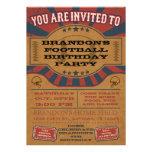 Invitación de la fiesta de cumpleaños del fútbol d