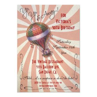 Invitación de la fiesta de cumpleaños del globo