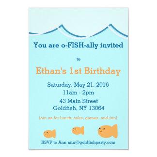Invitación de la fiesta de cumpleaños del Goldfish
