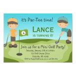 Invitación de la fiesta de cumpleaños del golf de