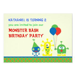 Invitación de la fiesta de cumpleaños del golpe invitación 12,7 x 17,8 cm