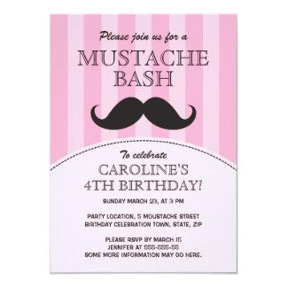 Invitación de la fiesta de cumpleaños del golpe invitación 11,4 x 15,8 cm