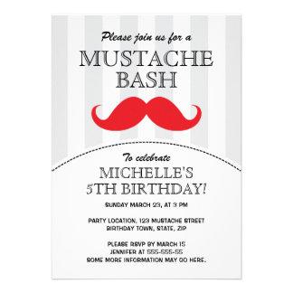 Invitación de la fiesta de cumpleaños del golpe de